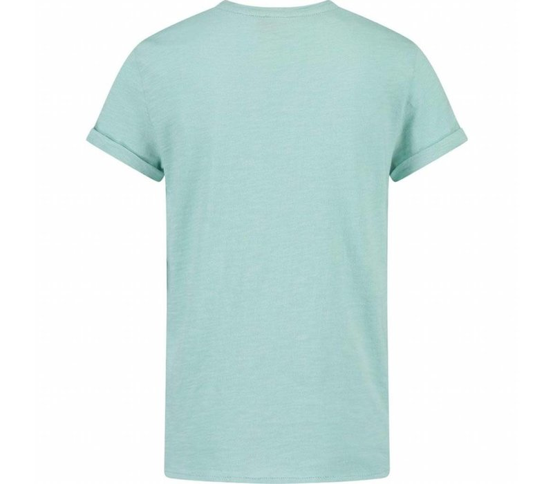 CKS Yochim T-shirt Short Sleeve - deep aqua