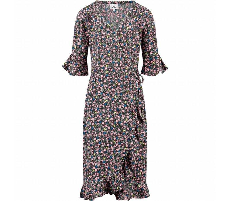 CKS Lien Dress Short - small flowers