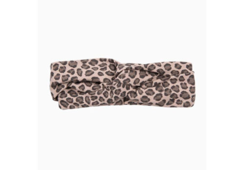 House of Jamie House of Jamie Turban Hairband Caramel Leopard