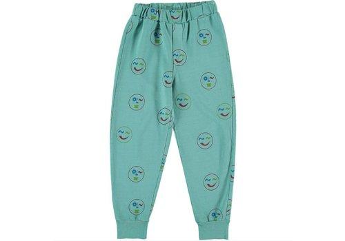 Fresh Dinosaurs Fresh Dinosaurs Smiley Print Pants - pool green