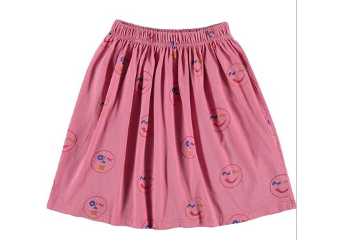 Fresh Dinosaurs Fresh Dinosaurs Smiley Print Skirt - conch shell