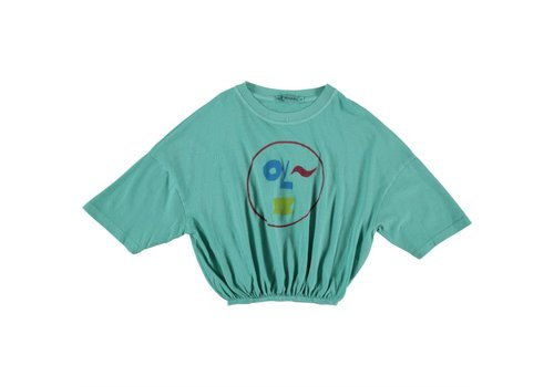 Fresh Dinosaurs Fresh Dinosaurs Smiley T-shirt - pool green