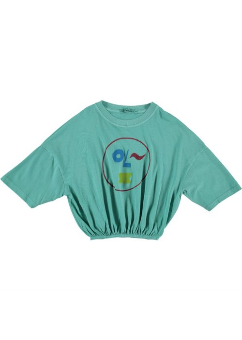 Fresh Dinosaurs Smiley T-shirt - pool green