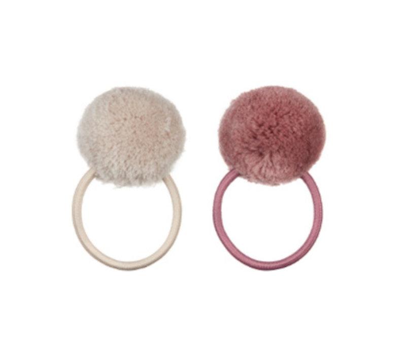 Mimi & Lula Pom Pom Ponies - soft neutral and pale dusty pink
