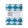 Swedish Linens Swedish Linens RAINBOWS Moroccan Blue Fitted Crib Sheet 60x120cm