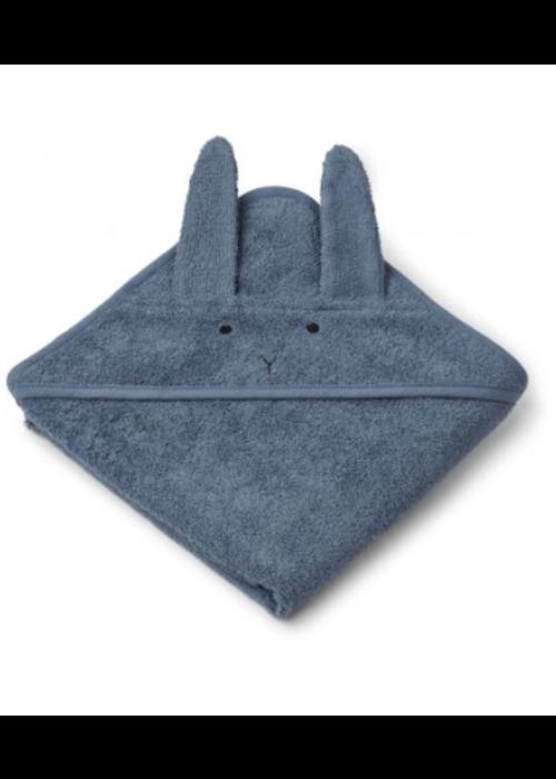 Liewood Liewood Albert Hooded Towel  Rabbit Blue Wave