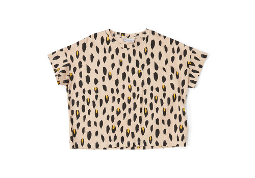 Daily Brat Daily Brat Oversized Leopard T-Shirt Dusty Ivory
