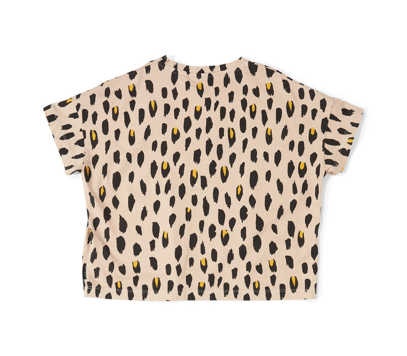Daily Brat Oversized Leopard T-Shirt Dusty Ivory