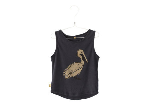Lötiekids Lötiekids Tank Top Pelican - washed black