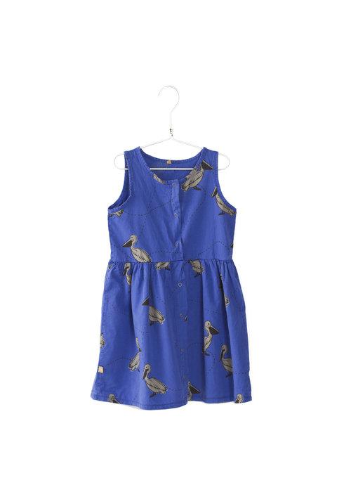 Lötiekids Lötiekids Twill Dress Pelicans - bright blue