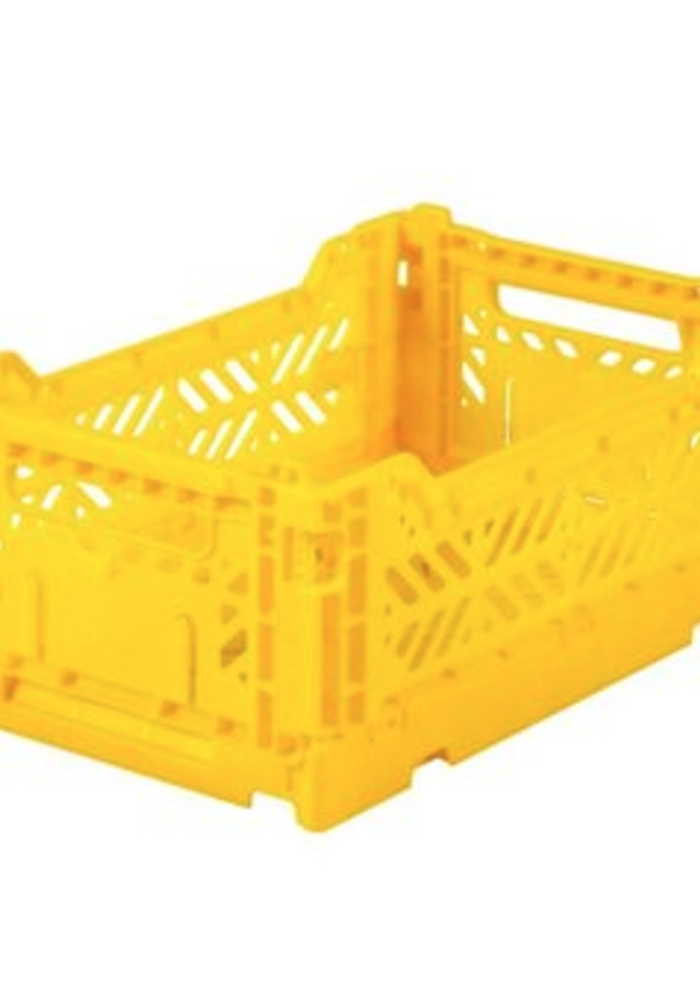 Lillemor Folding Crate  Mini - yellow