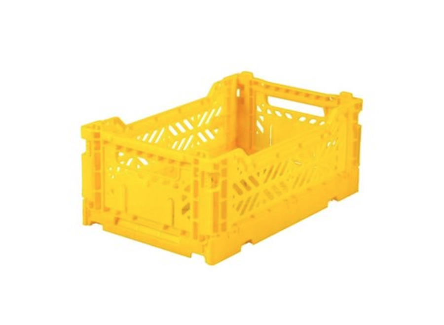 Lillemor Folding Crate  Mini - yellow