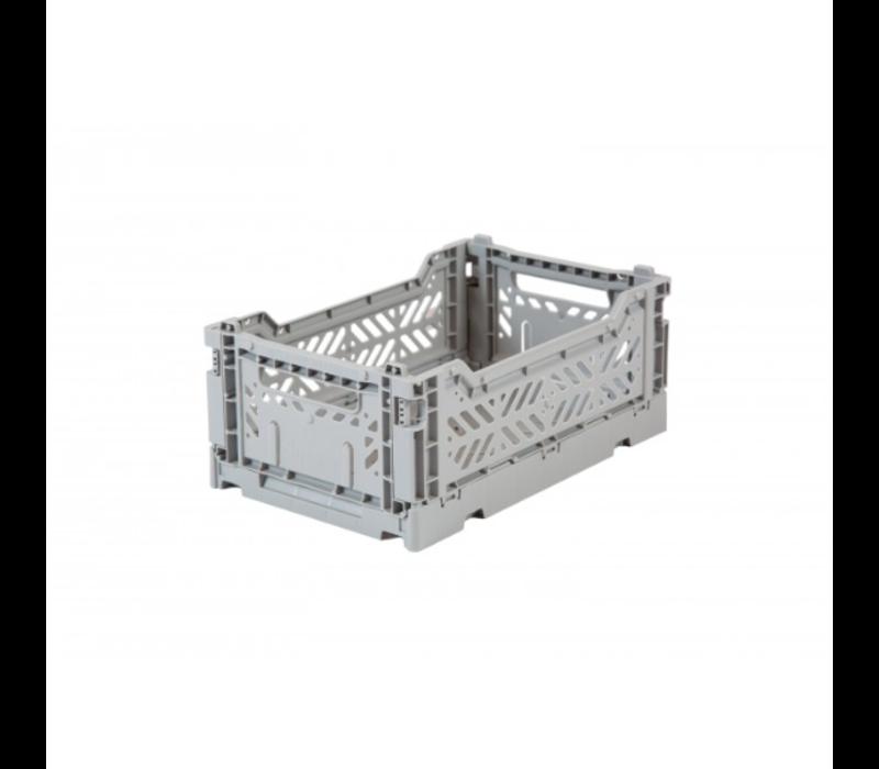Lillemor Folding Crate  Mini - grey