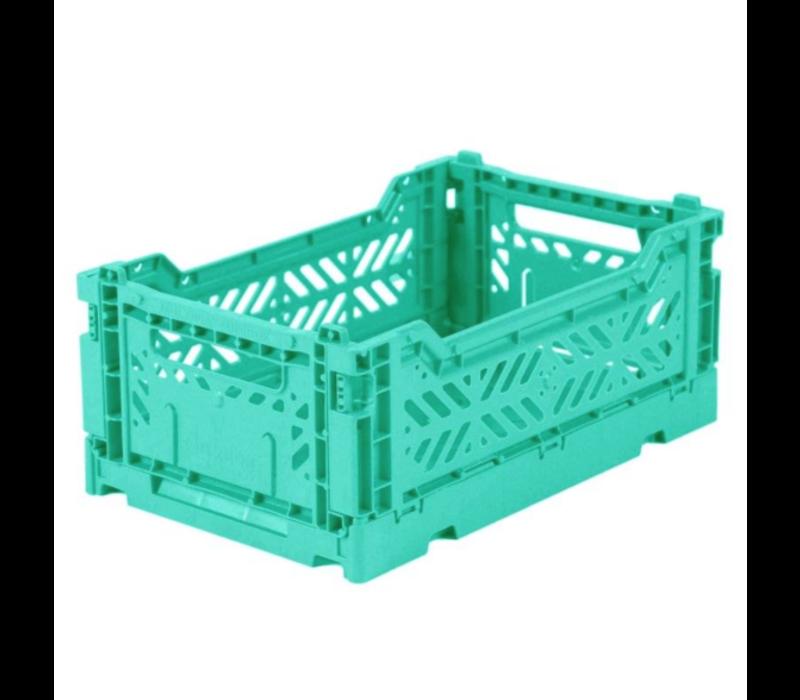 Lillemor Folding Crate  Mini - mint