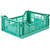 Eef Lillemor Lillemor Folding Crate Midi - mint