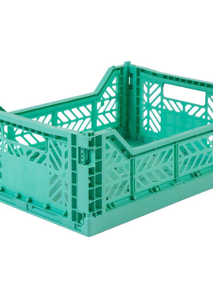 Lillemor Folding Crate Midi - mint
