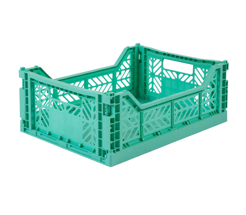 Lillemor Folding Crate Midi - mint