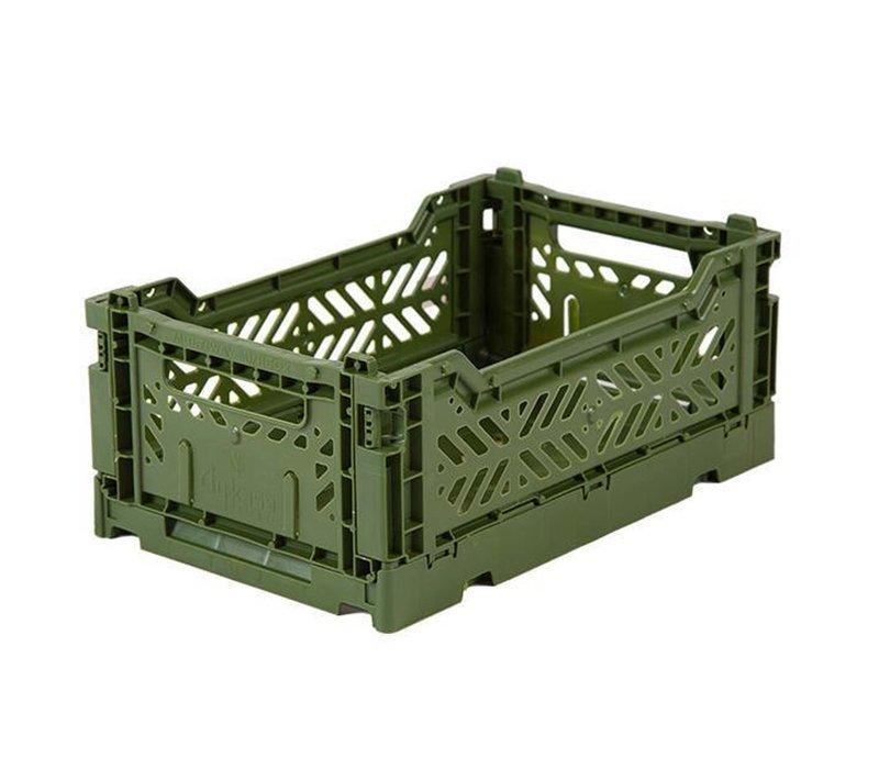Lillemor Folding Crate  Mini - khaki