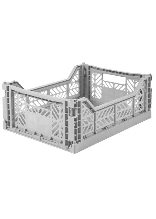 Eef Lillemor Lillemor Folding Crate Midi - grey