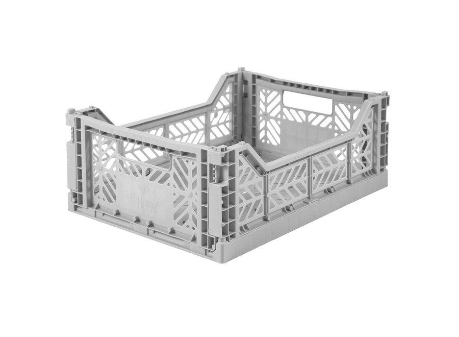 Lillemor Folding Crate Midi - grey