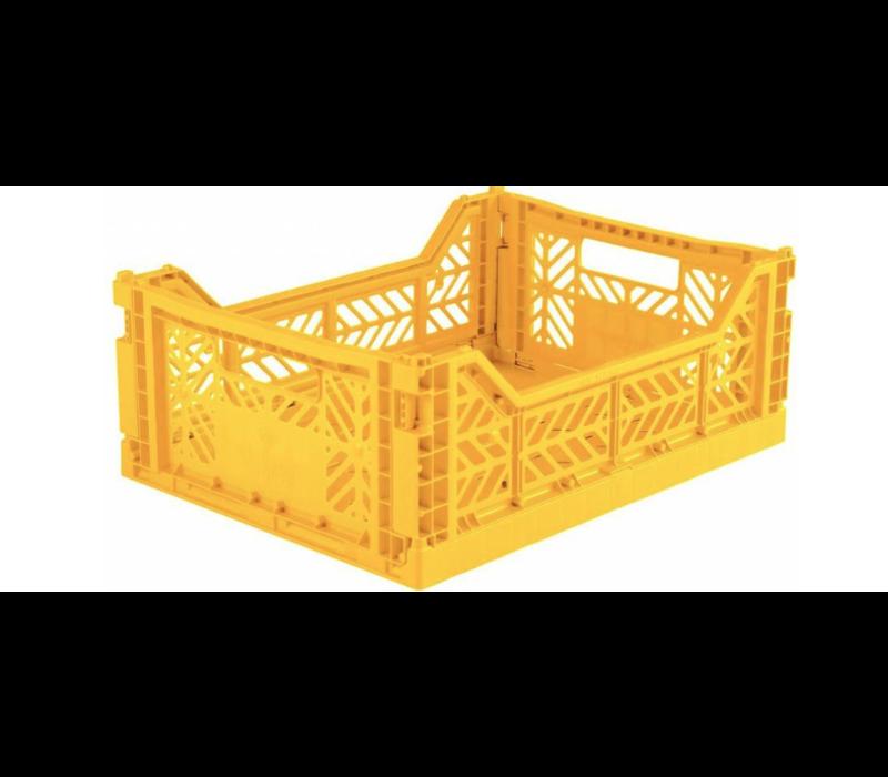 Lillemor Folding Crate Midi - yellow