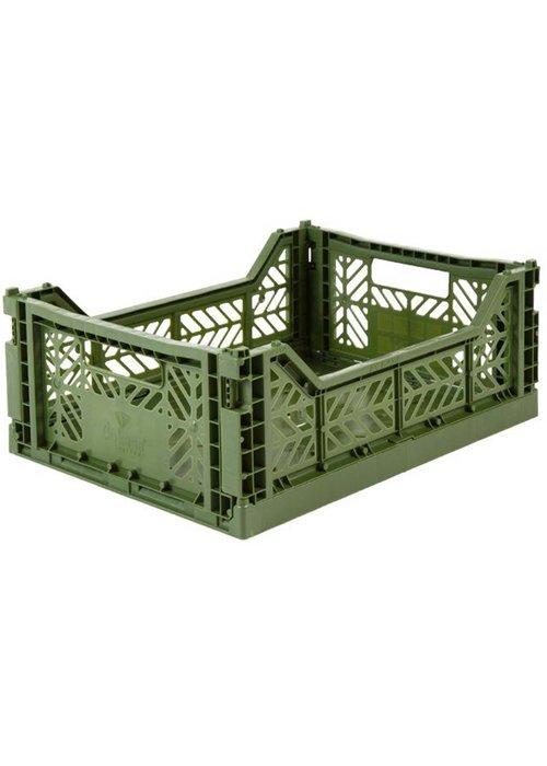 Eef Lillemor Lillemor Folding Crate Midi - khaki