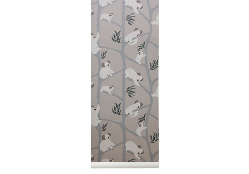 Ferm Living Ferm Living Koala Wallpaper Grey
