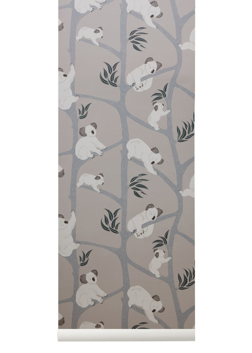 Ferm Living Ferm Living Koala Wallpaper Grey