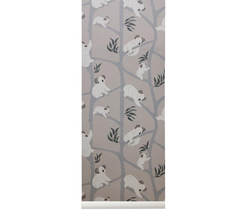 Ferm Living Koala Wallpaper Grey