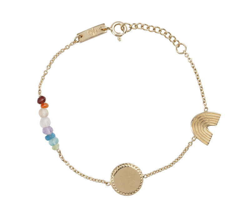 Lennebelle She's a Rainbow Armband Verguld - dochter