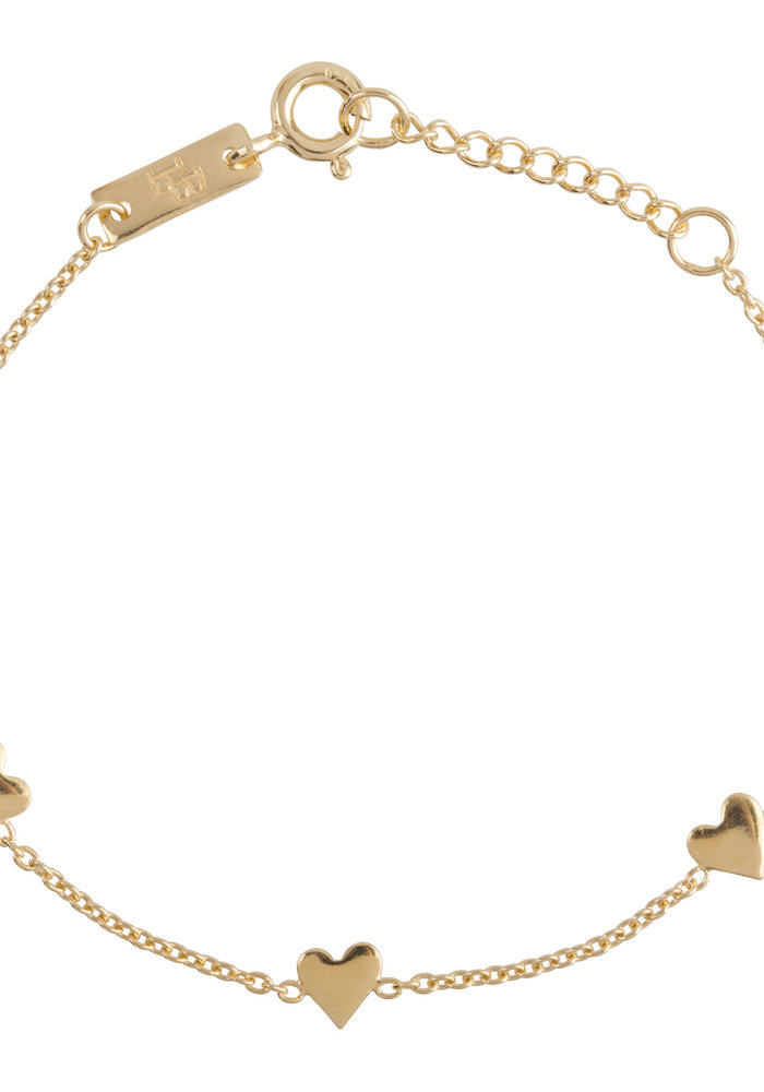 Lennebelle You are Loved Armband Verguld - dochter