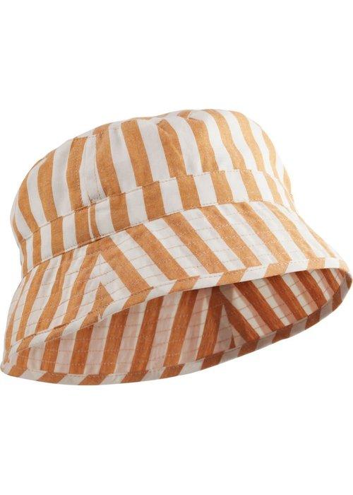Liewood Liewood Jack Bucket Hat Stripe Mustard Creme de la Creme