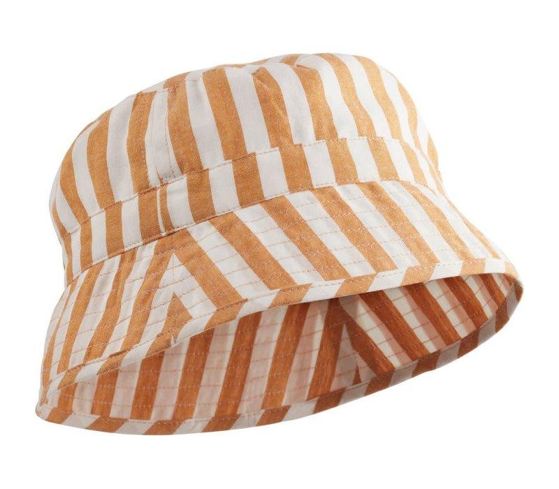 Liewood Jack Bucket Hat Stripe Mustard Creme de la Creme