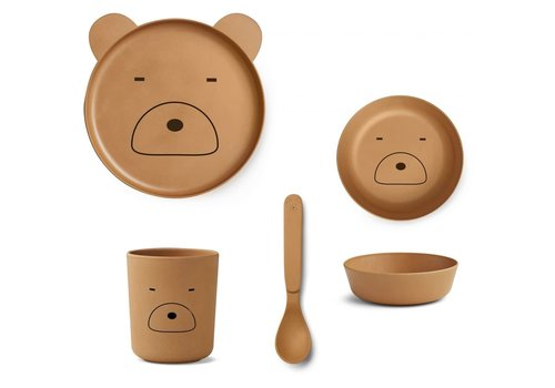Liewood Liewood Bamboo Box Set - Mr Bear Mustard