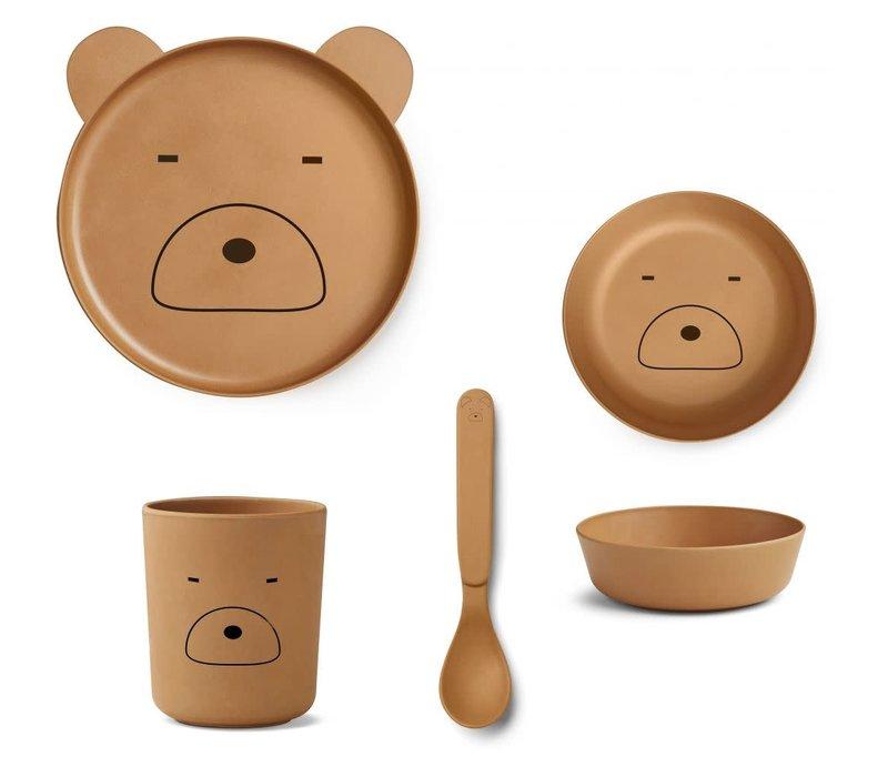 Liewood Bamboo Box Set - Mr Bear Mustard