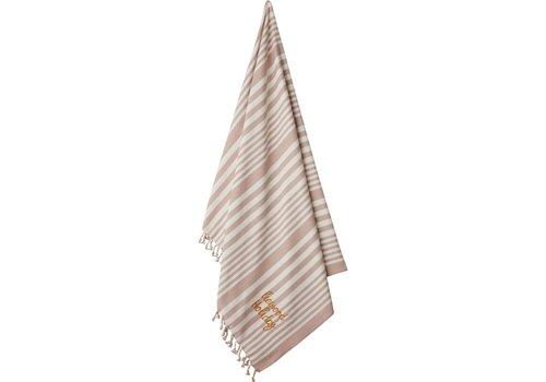 Liewood Liewood Monroe Beach Towel Stripe Rose/Creme de la Creme