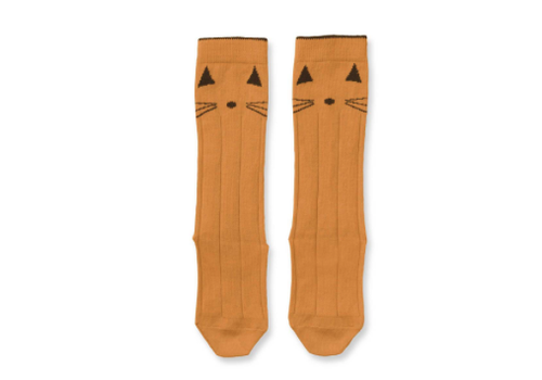 Liewood Liewood Sofia Cotton Knee Socks Cat Mustard 2- pack