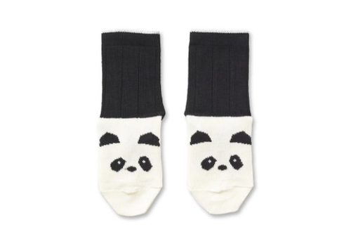 Liewood Liewood Silas Cotton Socks Panda Creme de la Creme - 2 pack