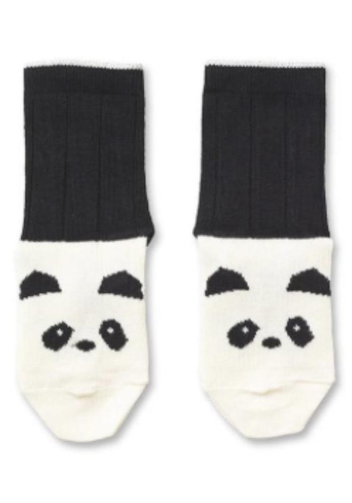 Liewood Silas Cotton Socks Panda Creme de la Creme - 2 pack
