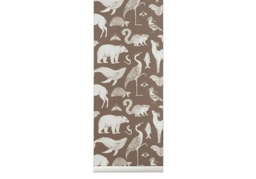 Ferm Living Ferm Living Katie Scott Animals Wallpaper Toffee