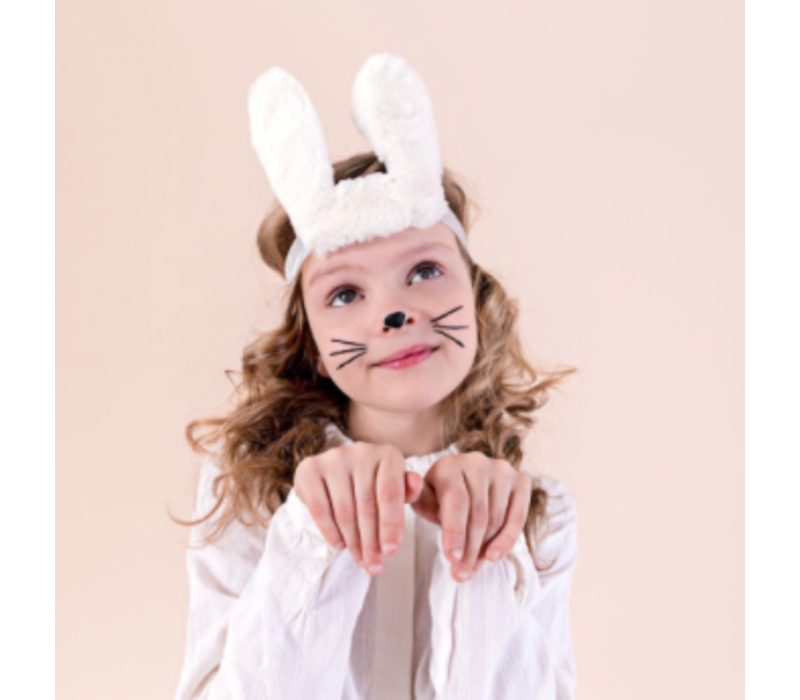 Mimi & Lula Bunny Ears Bando White
