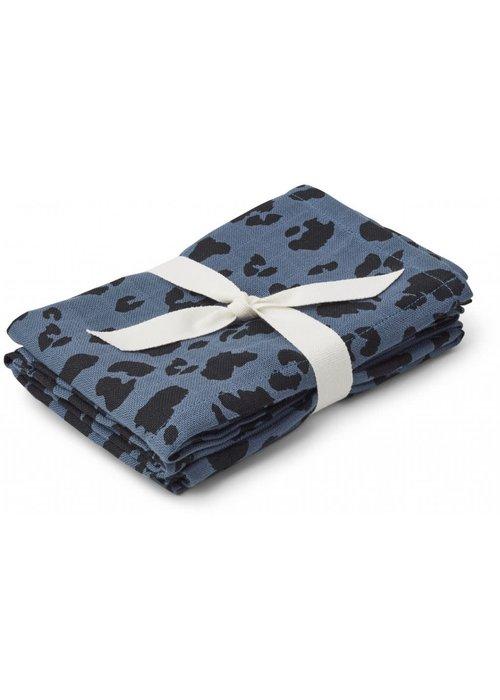 Liewood Liewood Hannah Muslin Cloth Leo Blue Wave