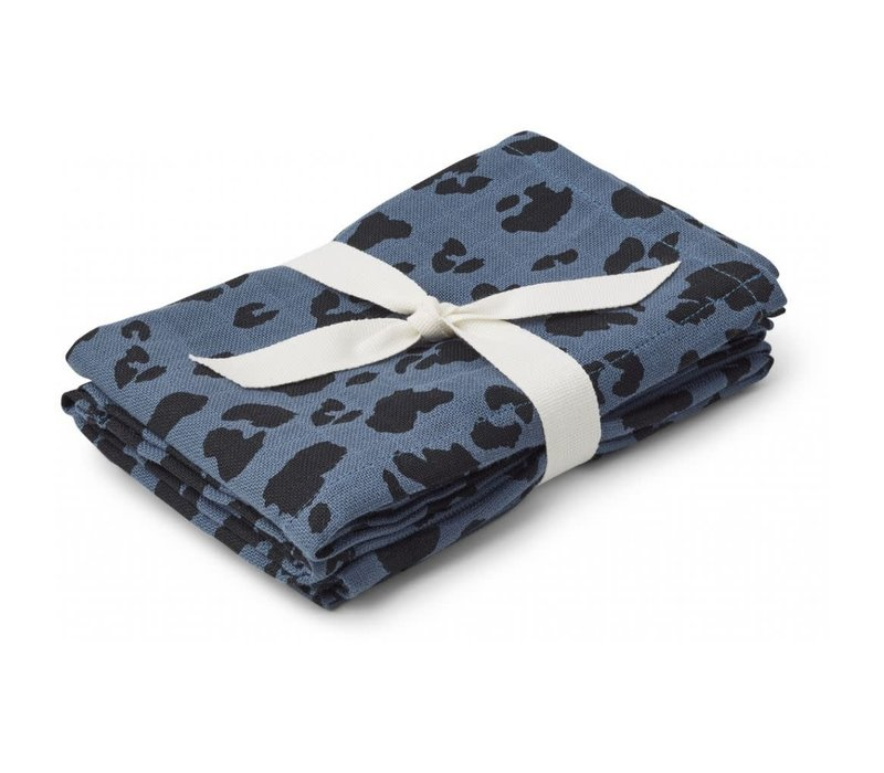 Liewood Hannah Muslin Cloth Leo Blue Wave