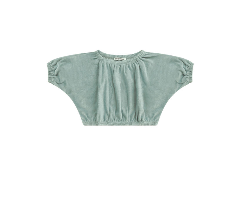 Mingo Cropped Top Terry Mint