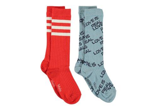Molo Molo Knee Socks Norvina Misty Blue
