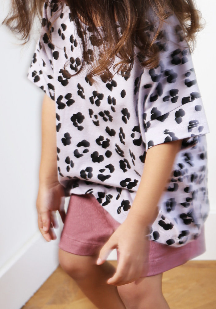 Daily Brat Oversized Leopard T-Shirt Dusty Lilac