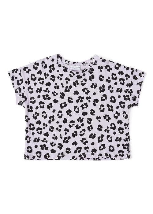Daily Brat Daily Brat Oversized Leopard T-Shirt Dusty Lilac