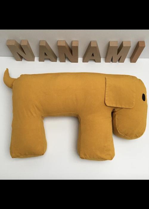 Nanami Nanami Feeding- and Relax Pillow Dog Olly Yellow