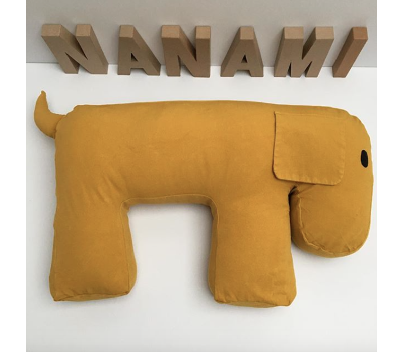 Nanami Feeding- and Relax Pillow Dog Olly Yellow