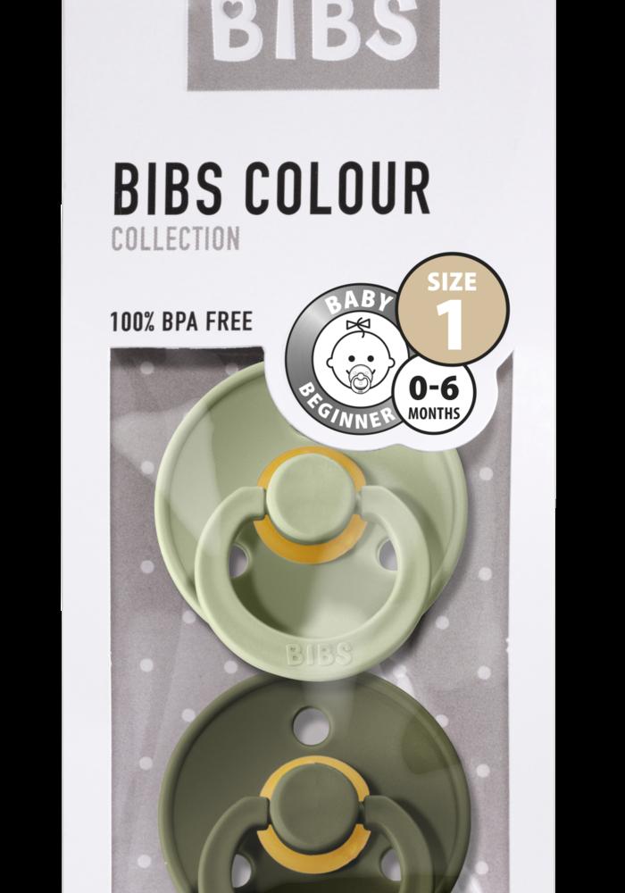 BIBS Pacifier Newborn - sage/hunter green